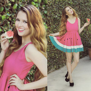 Limited Edition NEON PINK WATERMELON Dress